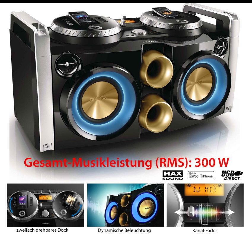 Philips ghetto blaster dj sound 300w rms boombox ebay - Philips ghetto blaster ...