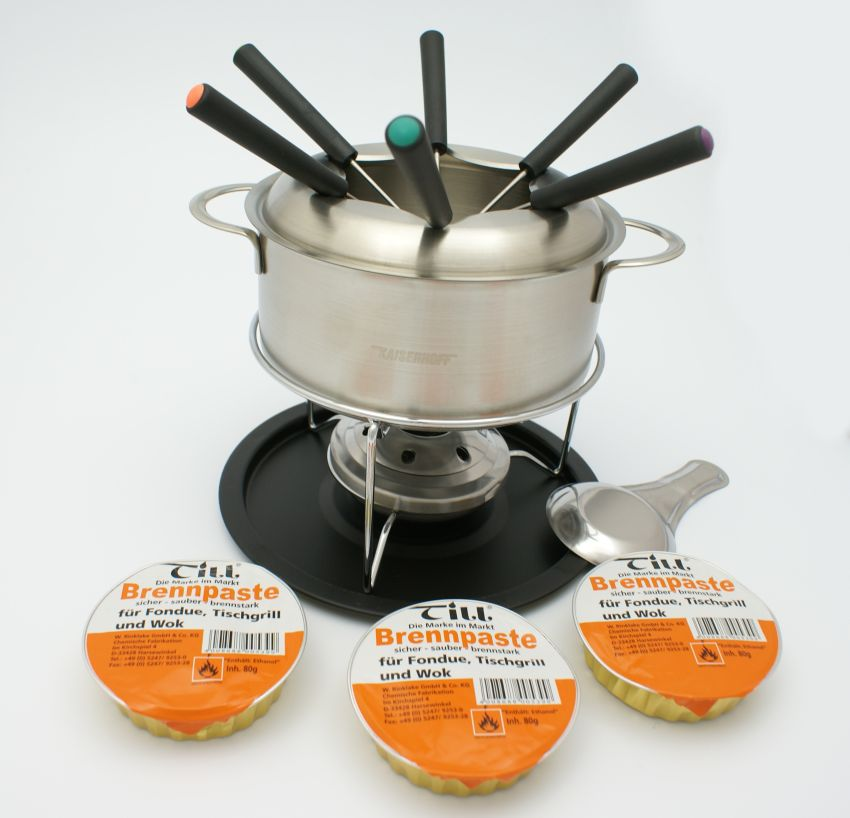 fondue set 14 teile edelstahl fleischfondue k sefondue schokofondue ebay. Black Bedroom Furniture Sets. Home Design Ideas